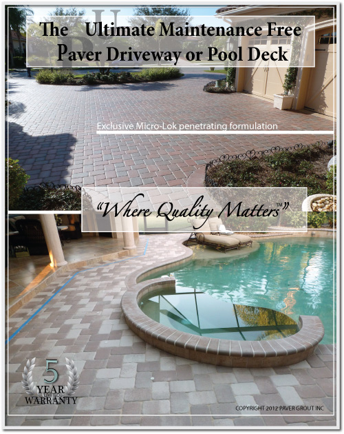 pool deck paver cleaning grouting and sealing
