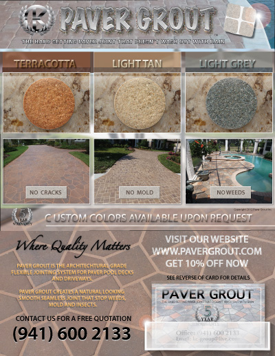 display stand for paver grout