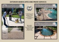 Exterior hardscapes including paver laying grouting and sealing in Bradenton and sarasota