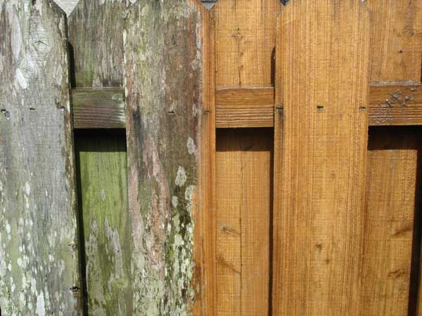 pressure cleaning wooden fences