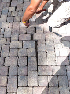 example of pavers drifting apart