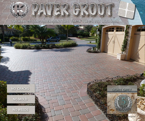 Paver Grout The Hard Setting Permanent Joint For Paver