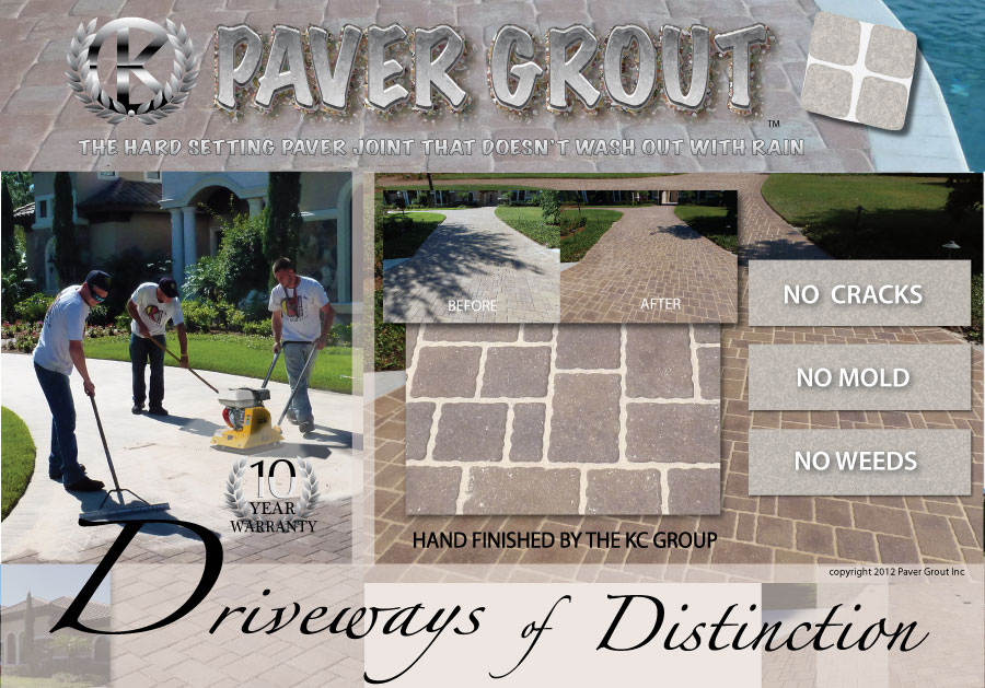 paver grouting driveway in lakewood ranch florida