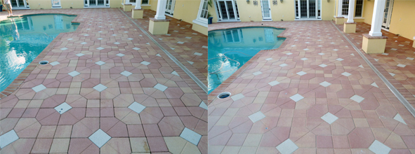 paver grout before after