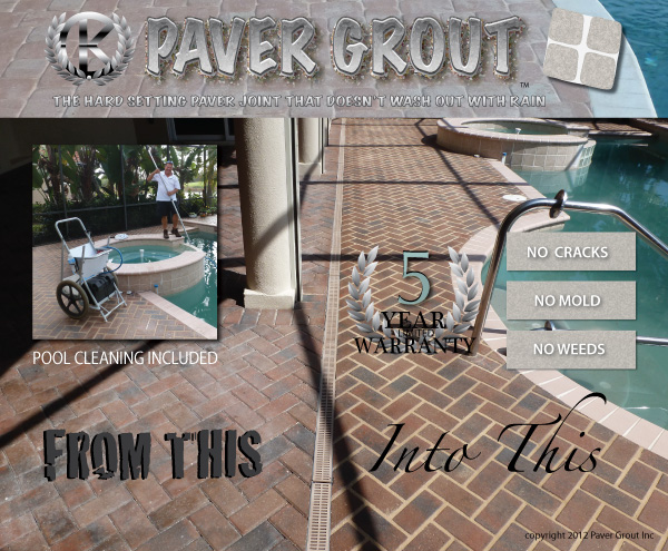 example of paver driveway grouting