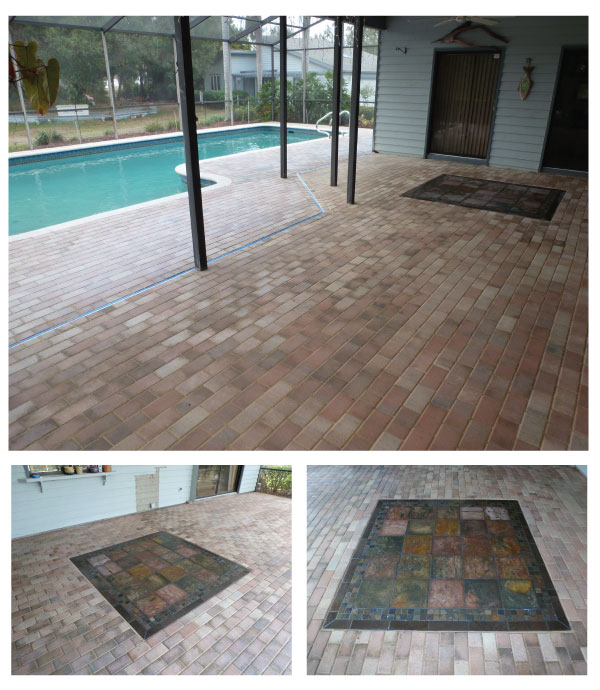 pavers repairs and tile laying pool deck