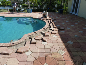 paver driveway and pool deck repairs and restoration services