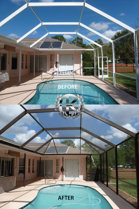 specialist frame coatings for aluminum pool cages
