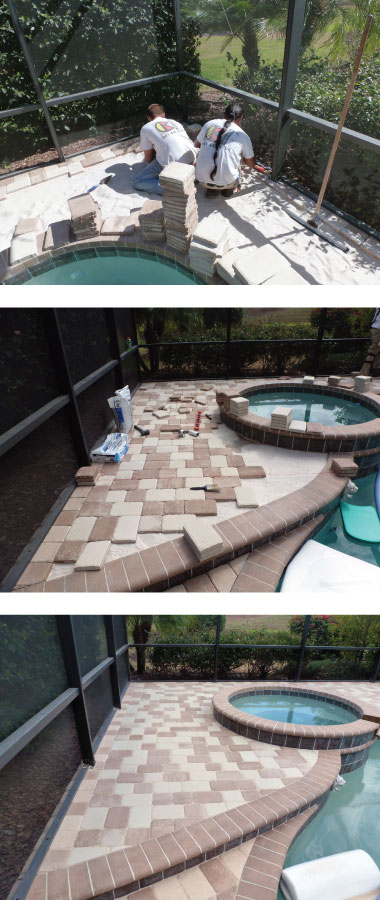 laying thin pavers over concrete decks in sarasota