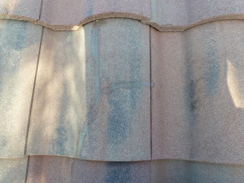 roof tile after repair